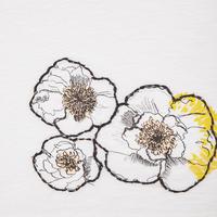 Floral Sketch T-Shirt White