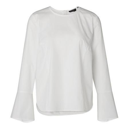 Gathered Blouse White