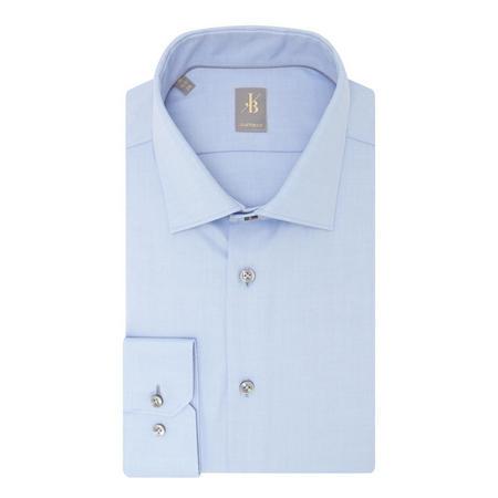 Custom Fit Twill Shirt Blue