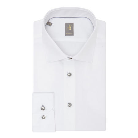 Custom Fit Twill Shirt White