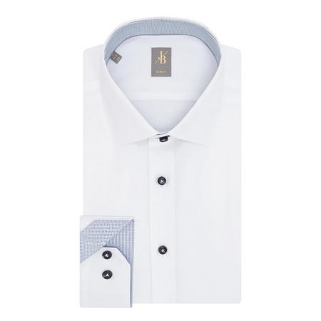 Slim Fit Twill Shirt White