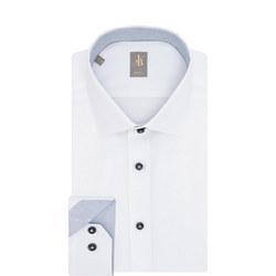 Slim Fit Twill Shirt White