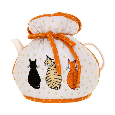 Cosy Cats In Waiting Muff Tea