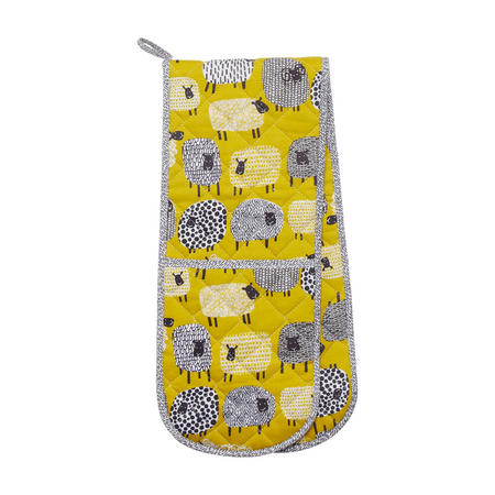 Dotty Sheep Double Glove Yellow