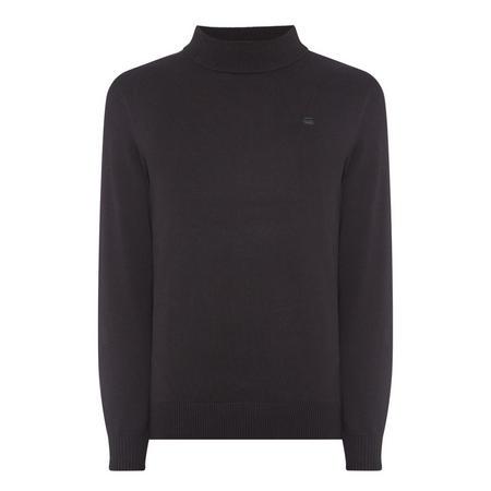 Core Mock Turtle Neck Sweater Black