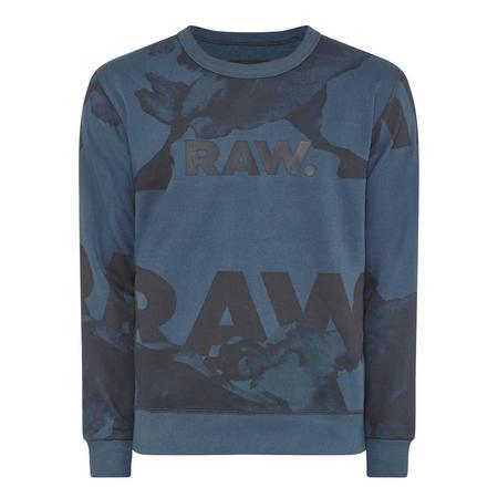 Core Camouflage Logo Sweatshirt Blue
