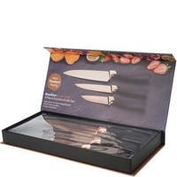 Brooklyn 3 Piece Knife Set Gold-Tone