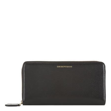Zip-Around Wallet Black