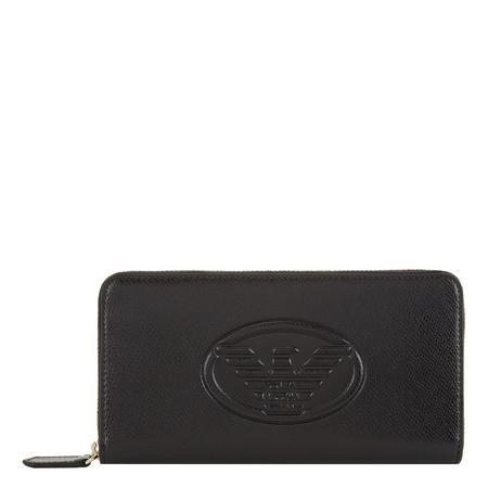 Eagle Zip-Around Wallet Black