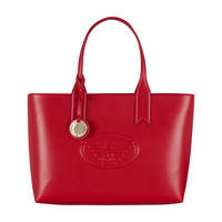 Eagle Embossed Shopper Bag Red