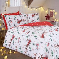 Santa Sleigh Duvet Cover Set Multicolour