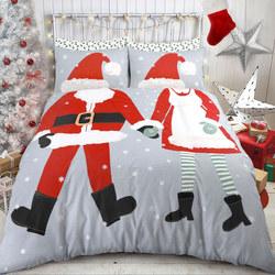 Santa Dress Up Duvet Cover Set Multicolour