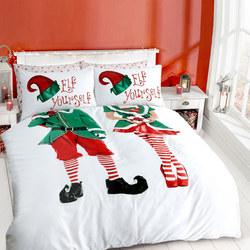 Elf Yourself Duvet Cover Set Multicolour