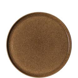 Studio Craft Chestnut Round Platter Brown