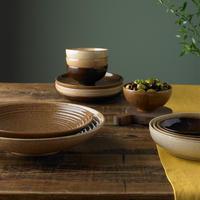 Studio Craft Chestnut Medium Ridged Bowl Brown