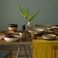 Studio Craft Walnut Medium Ridged Bowl Brown
