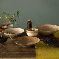 Studio Craft Birch Medium Ridged Bowl Brown