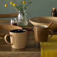 Studio Craft Walnut Alt Ridged Mug Brown