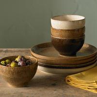 Studio Craft Chestnut Medium Coupe Plate Brown