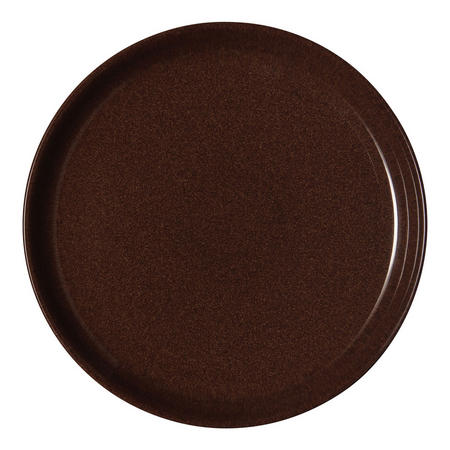 Studio Craft Walnut Coupe Dinner Plate Brown