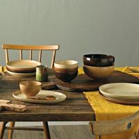 Studio Craft Birch Ramen / Large Noodle Bowl Brown