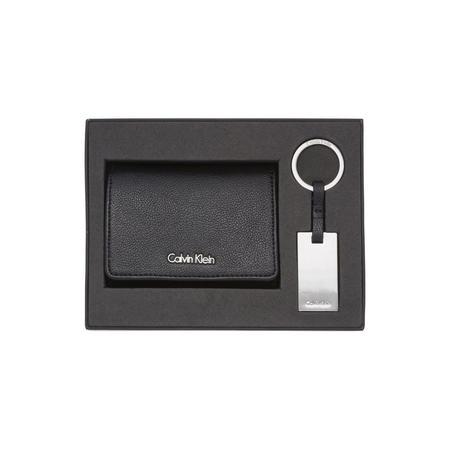 Wallet And Keyring Gift Set Black