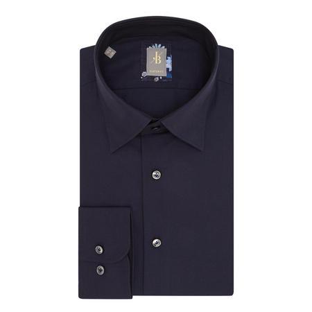 Floral Trim Custom Fit Shirt Navy