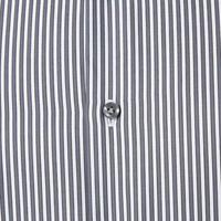 Striped Custom Fit Shirt Grey
