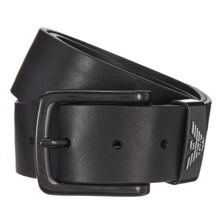Leather Buckle Belt Brown