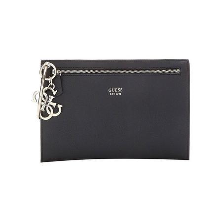Digital Large Clutch Bag Black