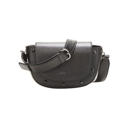 Kaia Stud Detail Crossbody Bag Black