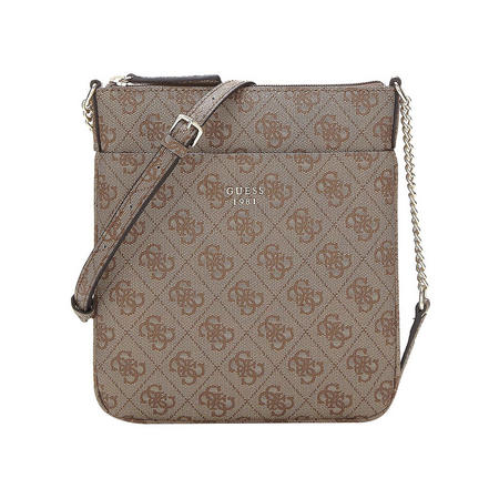 Joleen Logo Crossbody Bag Brown