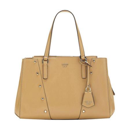 Kaia Stud Detail Tote Bag Brown