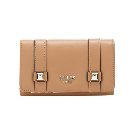 Exie Flap Close Wallet Brown