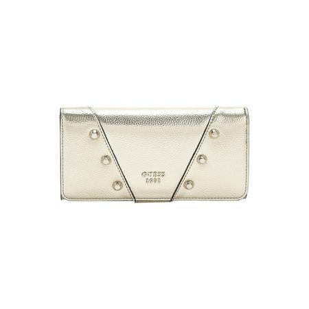 Kaia Stud Detail Metallic Wallet Gold-Tone