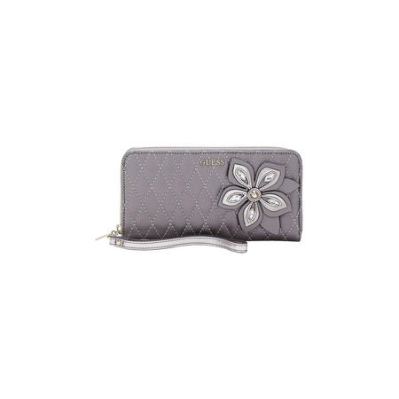 Sibyl Quilted Flower Wallet Grey