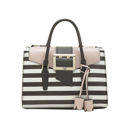 Tori Stripe Satchel Bag Multicolour