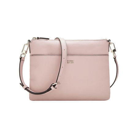 Logo Charm Crossbody Bag Pink