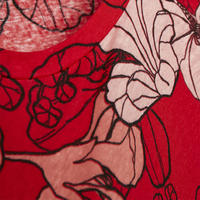 Ceslestin Floral Print T-Shirt Red
