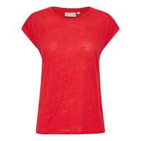 Celeste Cap Sleeve T-Shirt Red