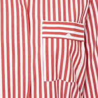 Polina Striped Shirt Dress Red