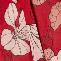 Begonia Floral Shirt Blouse Red