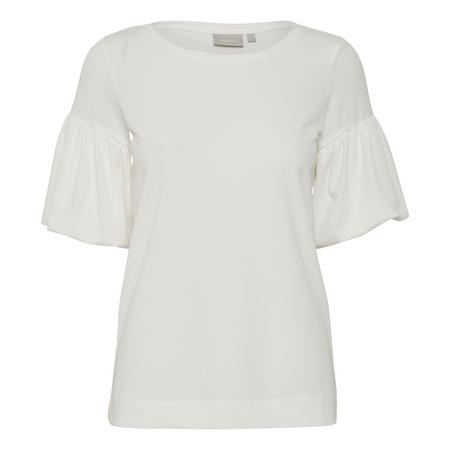 Tanya Frill Sleeve Top White