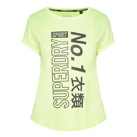 Printed Slogan T-Shirt Green