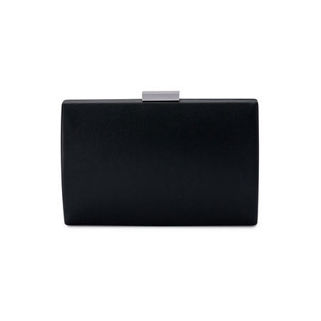Adley Oversize Pod Clutch Black