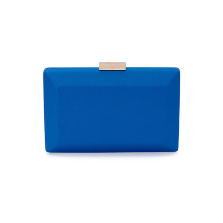 Avah Rectangle Pod Clutch Blue