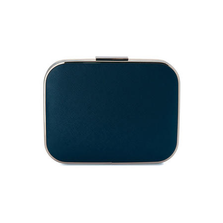 Zion Two Tone Pod Clutch Blue