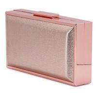 Chrisa Metallic Box Clutch Metallic