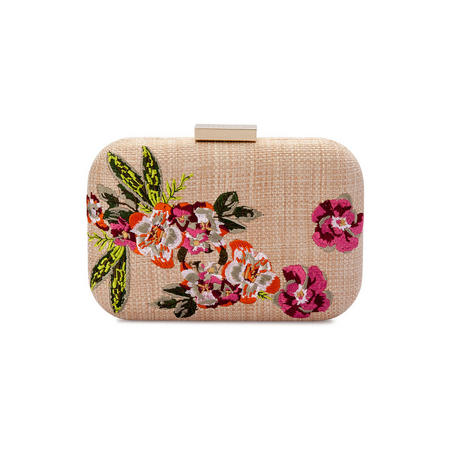 Lani Floral Embroidered Pod Clutch Multicolour