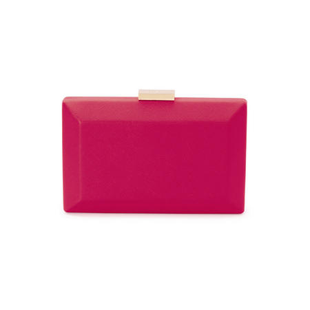 Avah Rectangle Pod Clutch Pink